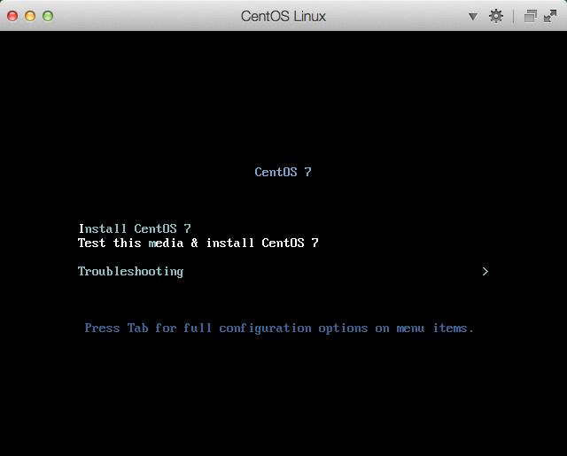 CentOS Install: Grub Menu